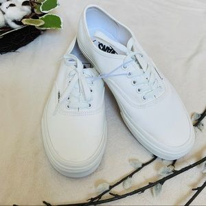 Vans Off the Wall NEW White Canvas Sz 9 Women NWOT